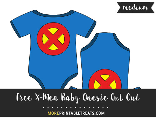 Free X-Men Baby Onesie Cut Out - Medium