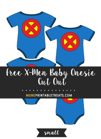 Free X-Men Baby Onesie Cut Out - Small