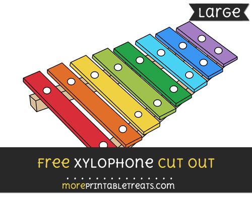 Free Xylophone Cut Out - Large size printable