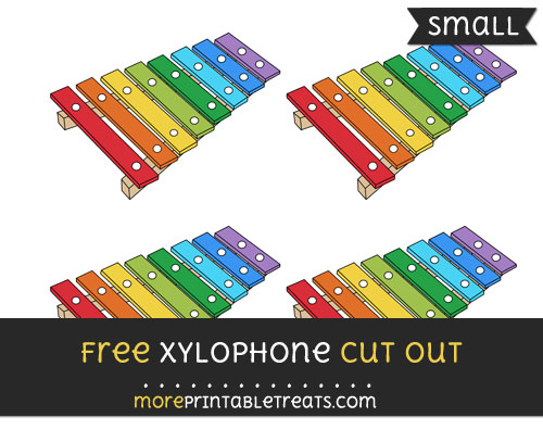 Free Xylophone Cut Out - Small Size Printable
