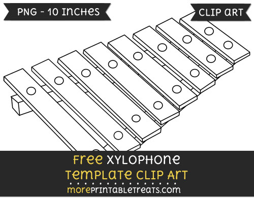 Free Xylophone Template - Clipart