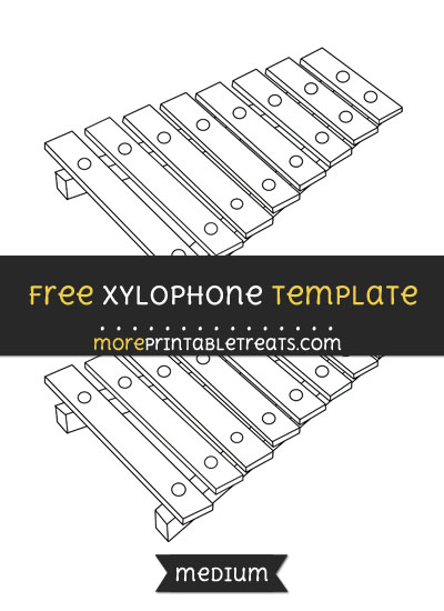 Free Xylophone Template - Medium