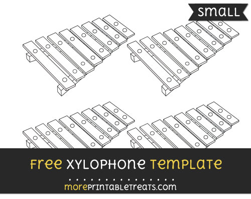Free Xylophone Template - Small