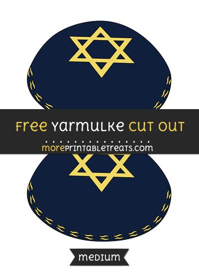 Free Yarmulke Cut Out - Medium Size Printable