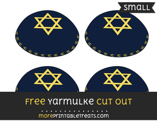 Free Yarmulke Cut Out - Small Size Printable