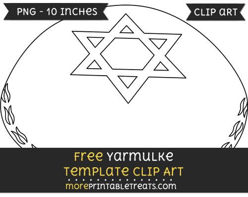 Free Yarmulke Template - Clipart