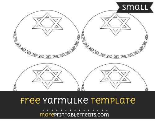 Free Yarmulke Template - Small