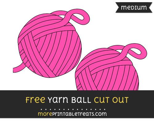 Free Yarn Ball Cut Out - Medium Size Printable