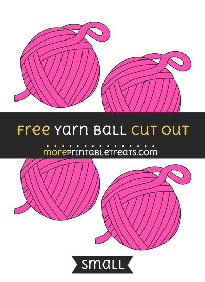 Free Yarn Ball Cut Out - Small Size Printable