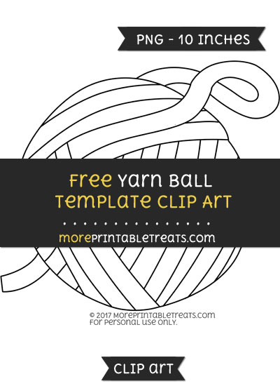 Free Yarn Ball Template - Clipart