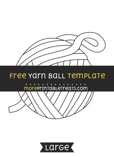 Free Yarn Ball Template - Large