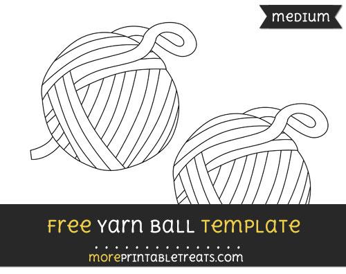 Free Yarn Ball Template - Medium