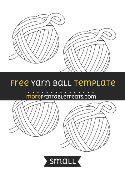 Free Yarn Ball Template - Small