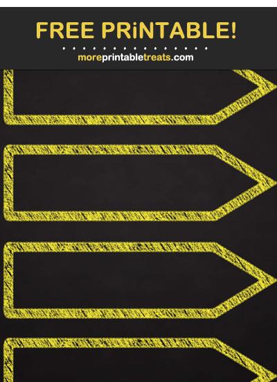 Free Printable Chalk-Style Yellow Arrow Flag Labels