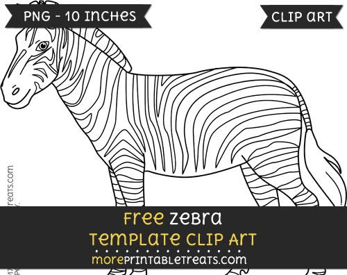 Free Zebra Template - Clipart