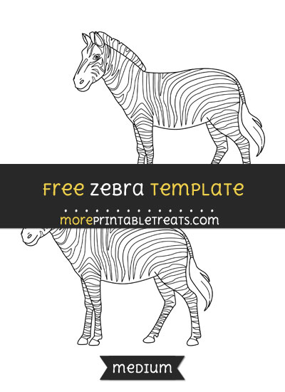 Free Zebra Template - Medium