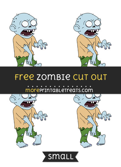 Free Zombie Cut Out - Small Size Printable