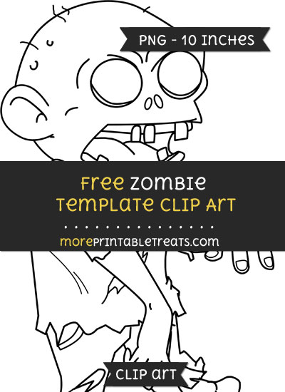 Free Zombie Template - Clipart
