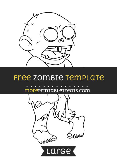 Free Zombie Template - Large